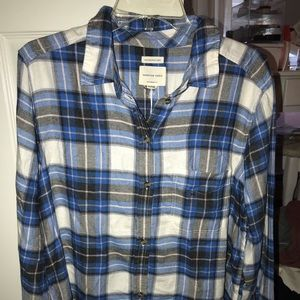 Super soft Blue flannel from American Eagle